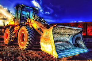 Bulldozer Excavation Diamond Painting