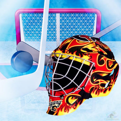 Calgary Flames NHL Hockey Net & Mask Diamond Painting