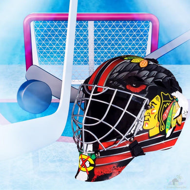 Chicago Blackhawks NHL Hockey Net & Mask Diamond Painting