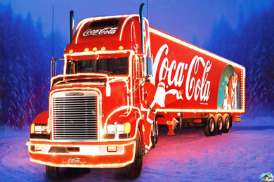 Coca-Cola Christmas Truck Diamond Painting