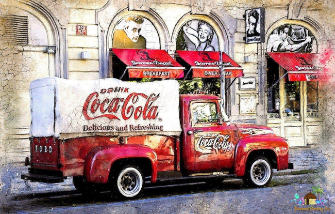 Coca-Cola Truck Diamond Painting