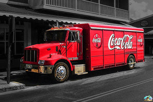 Coca-Cola Truck Park Diamond Painting