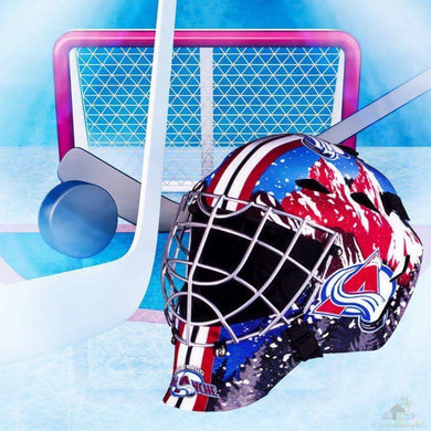 Colorado Avalanche NHL Hockey Net & Mask Diamond Painting