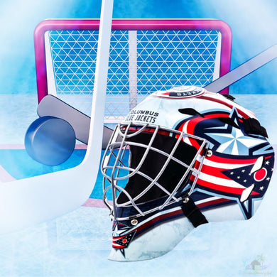 Columbus Blue Jackets NHL Hockey Net & Mask Diamond Painting