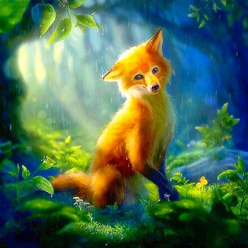 Cute Fox Diamond Painting