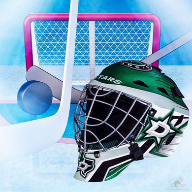 Dallas Stars NHL Hockey Net & Mask Diamond Painting