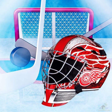 Detroit Red Wings NHL Hockey Net & Mask Diamond Painting