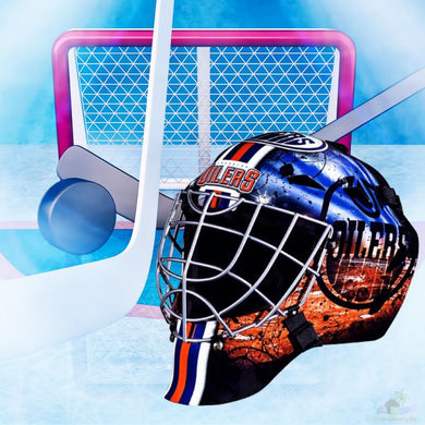 Edmonton Oilers NHL Hockey Net & Mask Diamond Painting