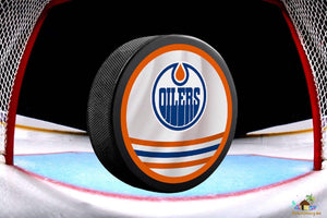 Edmonton Oilers NHL Hockey Puck Diamond Painting