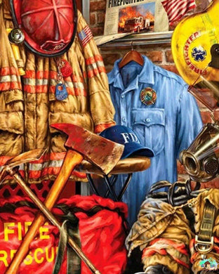 Firefighter Hero Diamond Painting