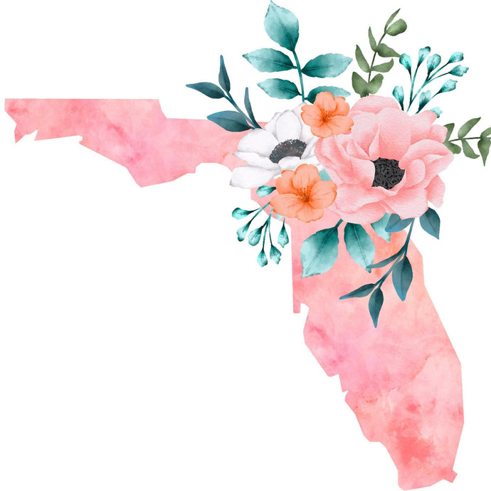 Floral State Of Florida Diamond Painting