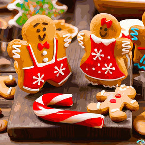 Ginger Bread Family Diamond Painting
