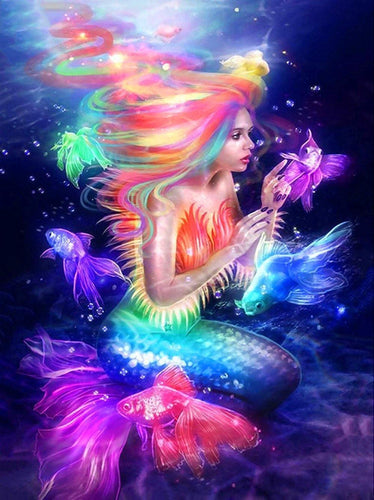 Glowing Mermaid Diamond Painting