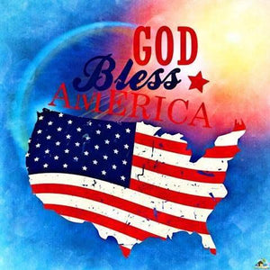 God Bless America  Diamond Painting