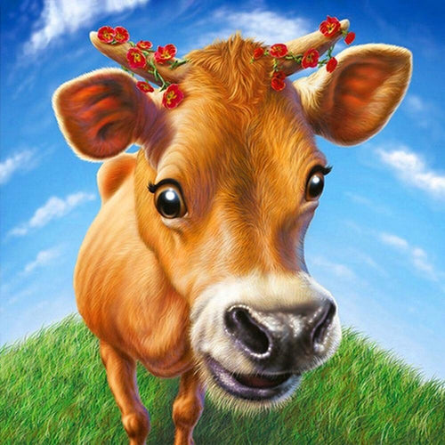 Happy Cow Diamond Painting