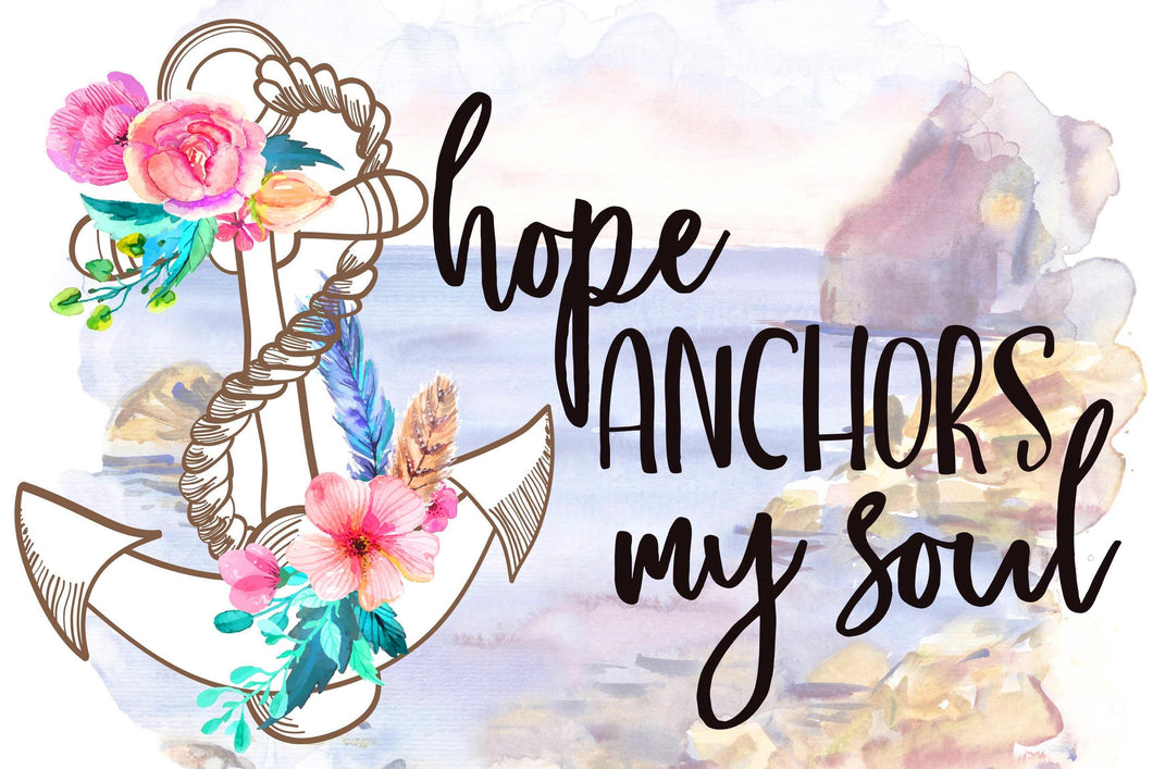 Hope Anchors My Soul Diamond Painting