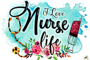 I Love Nurse Life Diamond Painting