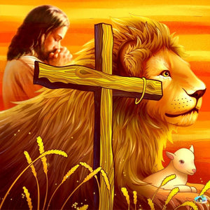 Jesus With The Lion Diamond Painting
