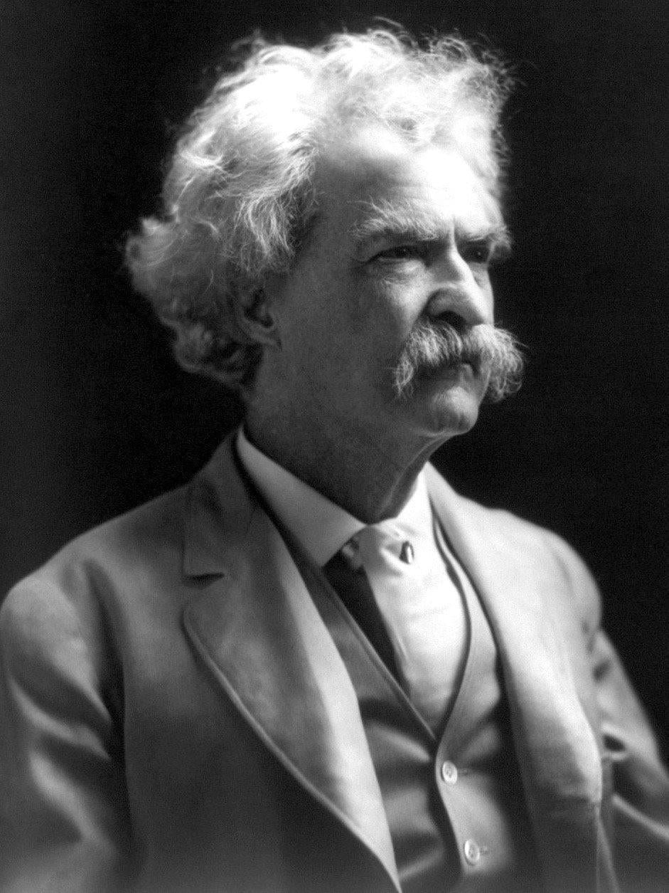 Mark Twain B&W Diamond Painting