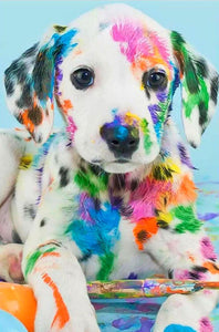 Messy Dalmatian Puppy Diamond Painting