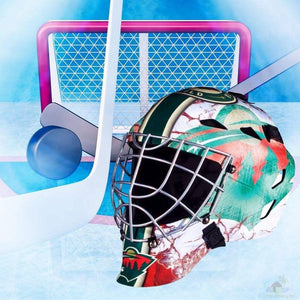 Minnesota Wild NHL Hockey Net & Mask Diamond Painting