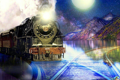 Mountain Train Diamond Painting