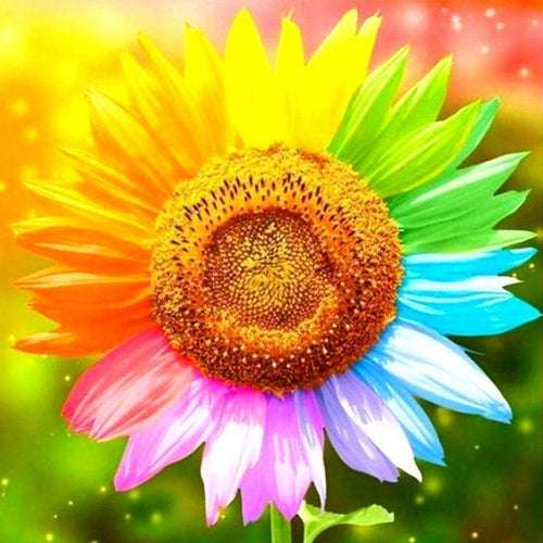 Multi Colored Sunflower Diamond Painting