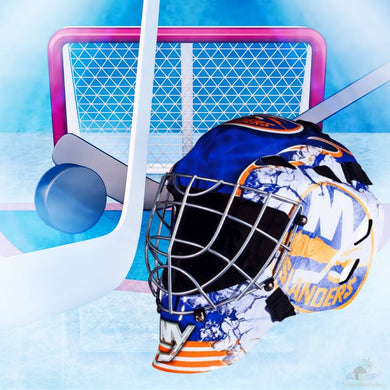 New York Islanders NHL Hockey Net & Mask Diamond Painting