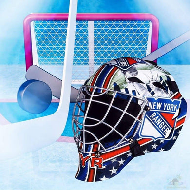 New York Rangers NHL Hockey Net & Mask Diamond Painting
