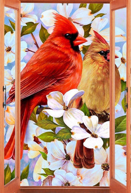 Northern Cardinal Diamond Painting