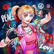 Load image into Gallery viewer, Peace Girl Diamond Painting