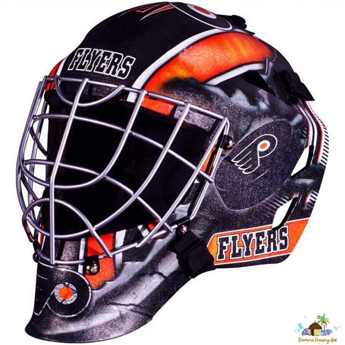 Philadelphia Flyers NHL Goalie Mask Diamond Painting