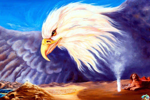 Purple Eagle Wings Diamond Painting