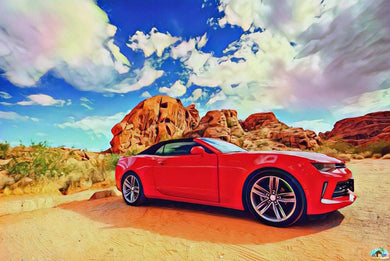 Red Dessert Car Diamond Painting