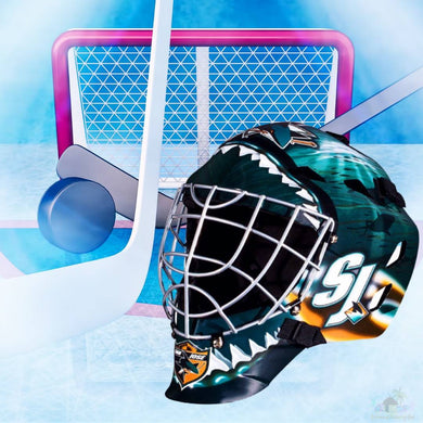 San Jose Sharks NHL Hockey Net & Mask Diamond Painting