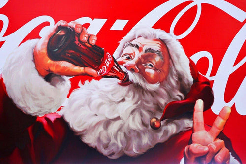 Santa Drinking Coke Diamond Painting