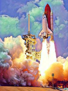 Space Shuttle Launch Diamond Painting