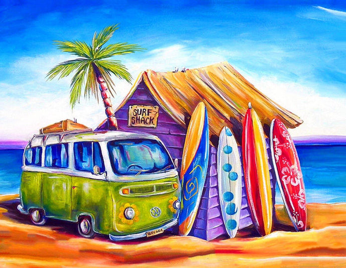 Surf Shack Diamond Painting
