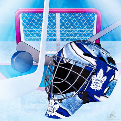 Toronto Maple Leafs NHL Hockey Net & Mask Diamond Painting