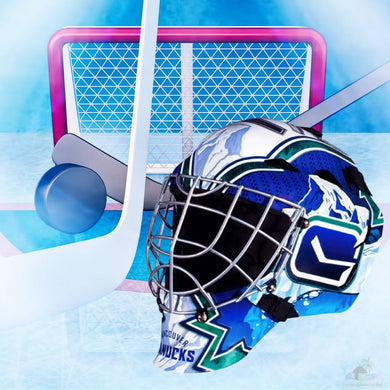 Vancouver Canucks NHL Hockey Net & Mask Diamond Painting