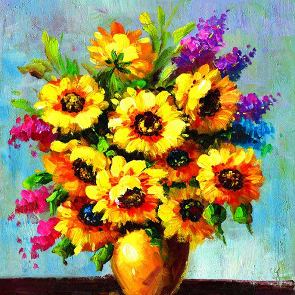 Vase Of Sunflowers Diamond Painting