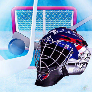Washington Capitals NHL Hockey Net & Mask Diamond Painting