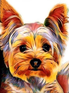 Yorkie Puppy Watercolor Diamond Painting
