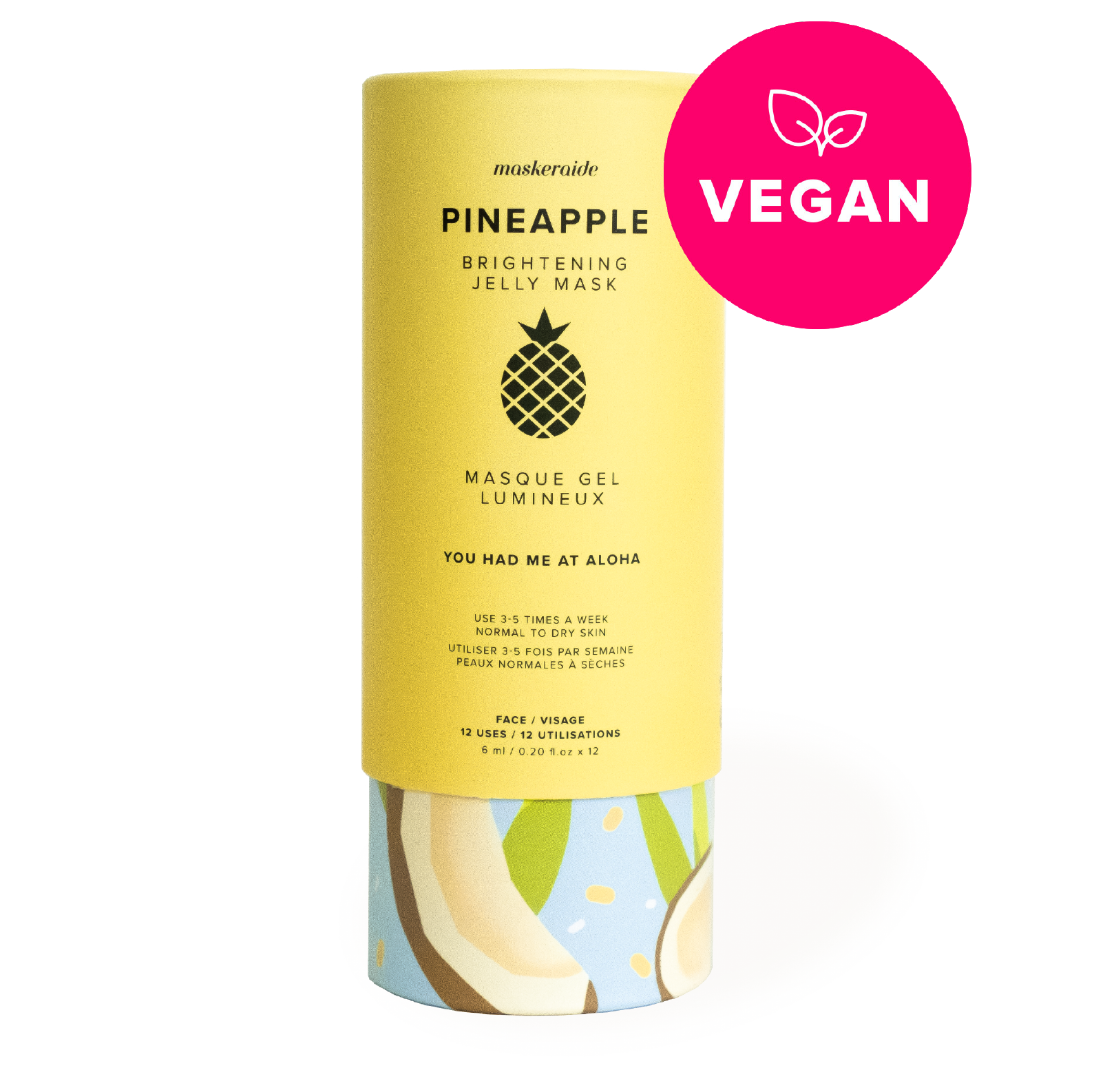 Pineapple Brightening Jelly Mask (12 Uses)