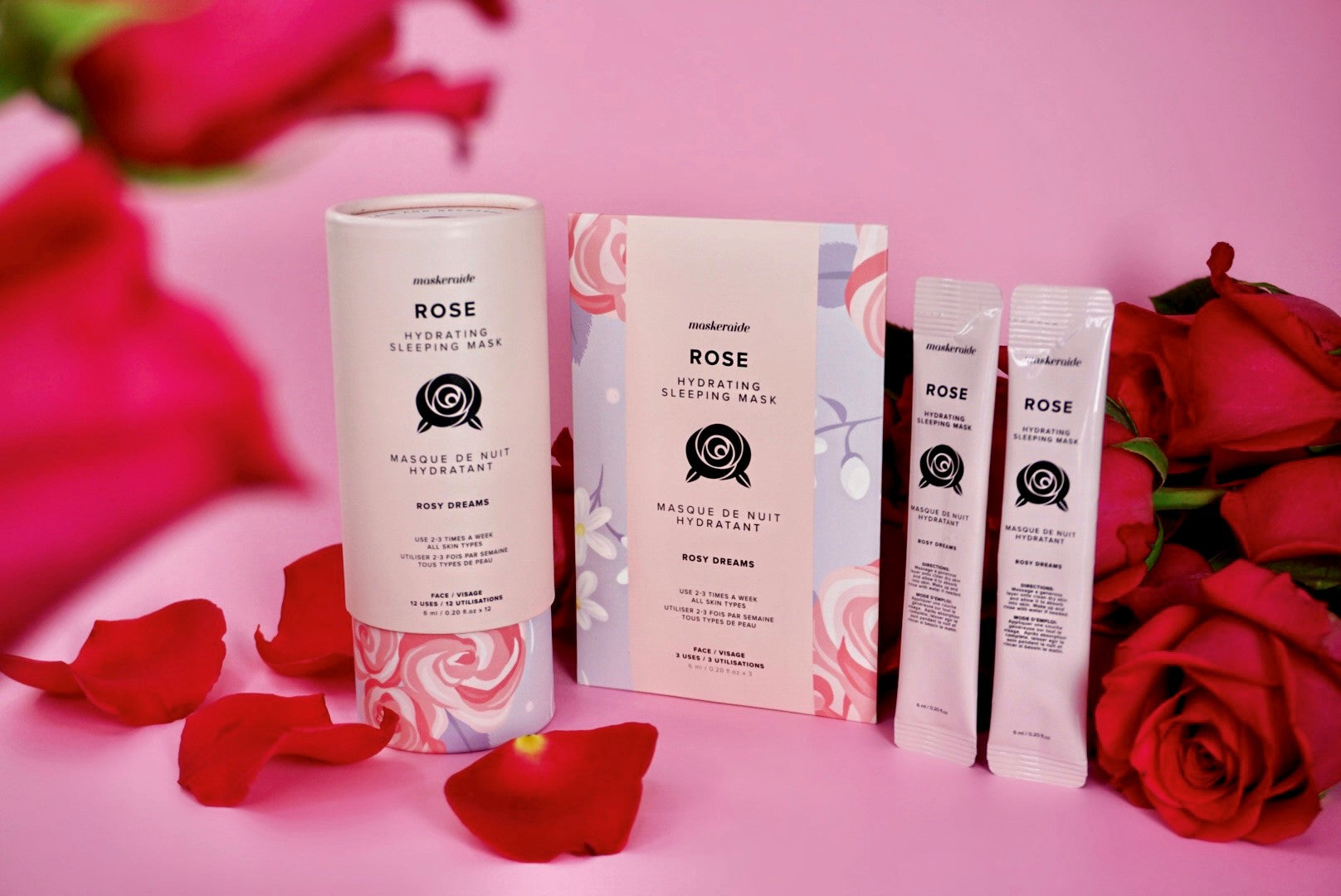 Rose Hydrating Sleeping Mask (3 Uses)