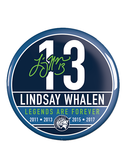 Minnesota Lynx Lindsay Whalen Retirement Button