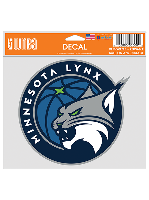 Minnesota Lynx Multi Use 5x6 Global Logo Decal