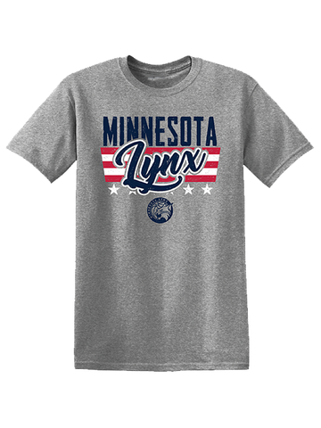 Minnesota Lynx Men's Core Cotton Circle Bar Around Logo T-Shirt