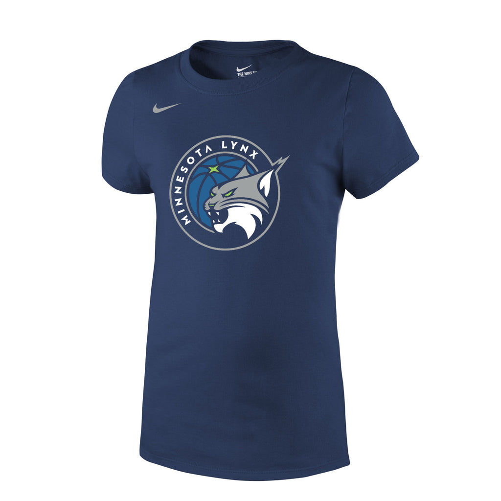 Minnesota Lynx Girls Navy Primary Logo Tee