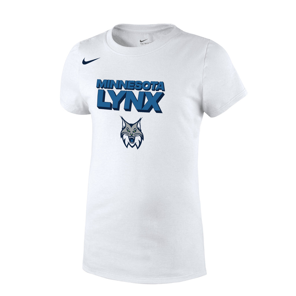Minnesota Lynx Girls White Logo Tee